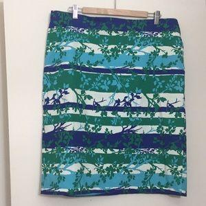 Talbots Printed Pencil Skirt